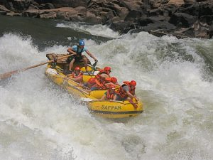 Rafting en el rio Zambeze