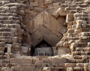 entrada a la piramide de keops