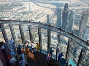 mirador del edificio Burj Khalifa